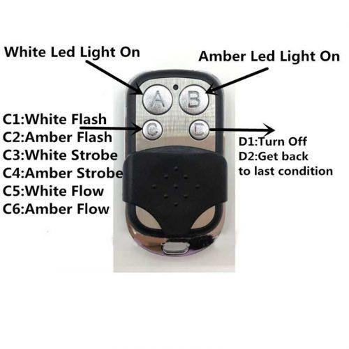 Barra 12 LEDS amarillo y blanco 8 pulgadas3