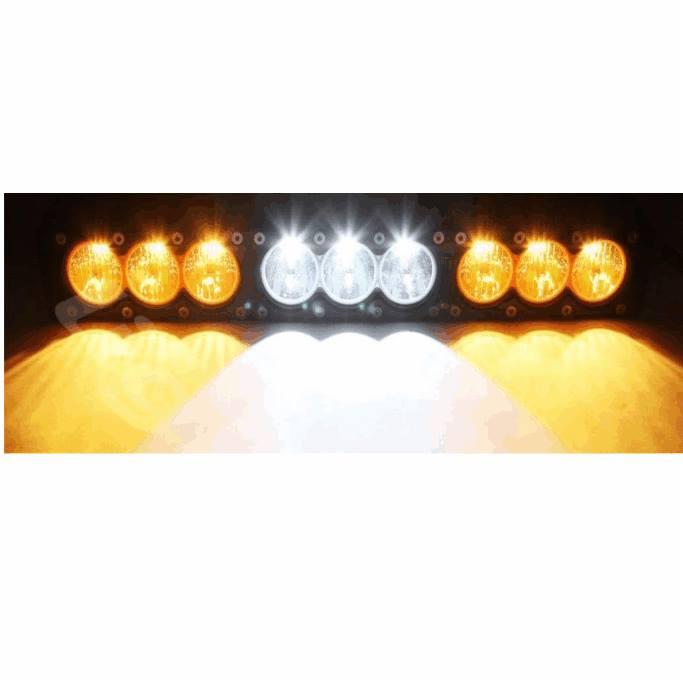 Barra 9 LEDS 6 amarillos y 3 blancos5