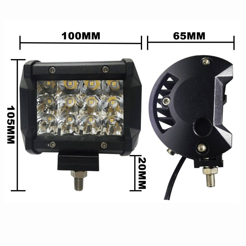 Barra LED 4 pulgadas 12 Leds 36Watt2