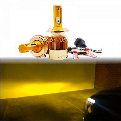 LED H4 amarillo y blanco4