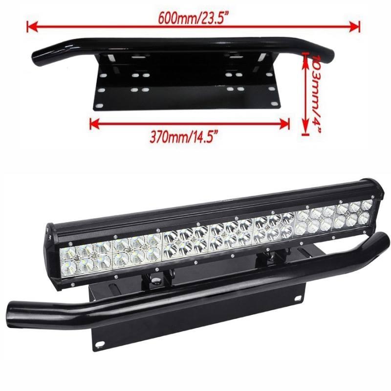 Sujetador de Barra LED y Portaplaca1