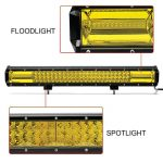 Barra LED 22 pulgadas Amarilla6