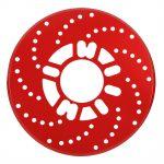 1-Set-Auto-Aluminium-Disc-Brake-Rotor-Trim-Decorative-Covers-Retrofit-26cm-Red