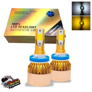 Faros Dual LED Bicolor - 8600 Lm - 9006